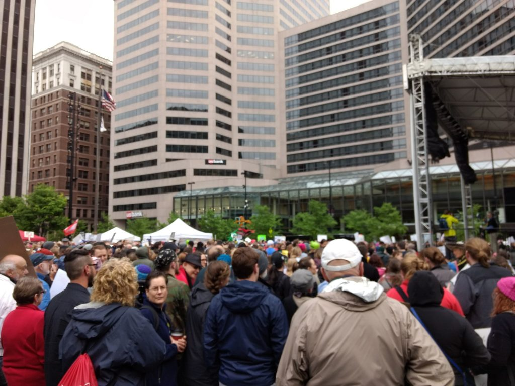 Crowd at the March for Cincinnati - Fountain Square - Downtown Cincinnati